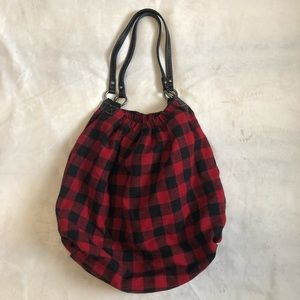 Red Plaid Purse